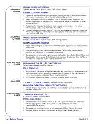 Water Treatment Plant Operator Resume Power Plant Operator Resume