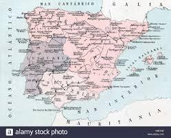 Tarragona Spain Map by A Map Of Roman Spain Hispania Showing Hispania Citerior And