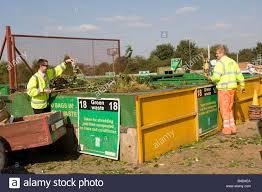 uk waste stock photos uk waste stock images alamy green waste recycling skip domestic site wingmoor farm stoke orchard cheltenham uk stock image