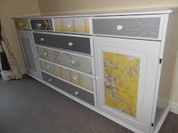 Upcycled Kitchen Ideas by Upcycled Sideboard With Paint And A Few Wallpaper Samples Just