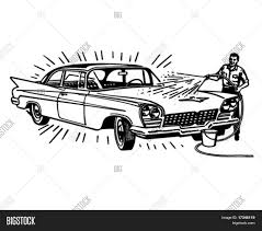 classic cars clip art man washing car retro clip art vector u0026 photo bigstock
