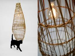 Wicker Light Fixture by