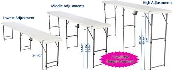 Folding Table With Handle Folding Tables Adjustable Height Plastic Top
