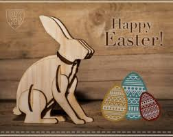 Easter Bunny Lawn Decoration Kit by Wooden Easter Bunny Etsy