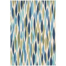 Yellow And Blue Outdoor Rug Nourison Outdoor Rugs Rugs The Home Depot