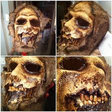 scarecrow halloween makeup tear away mask made for terror in rhode island my masks and