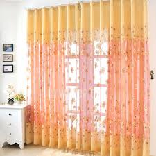 innovative yellow sheer curtains and modern style geometric