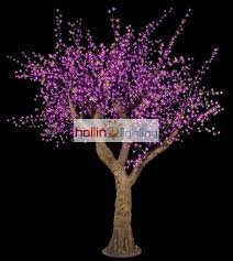 outdoor lighted cherry blossom tree led simulation trees hollinlighting