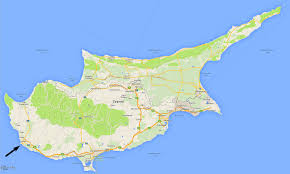 map of cyprus maps of cyprus showing paphos paphos and larnaca airports