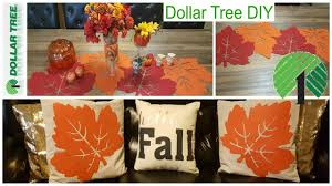 dollar tree fall diy pillow covers u0026 table runner home decor