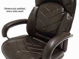 500 Lbs Capacity Leather Executive Big  Tall Chair