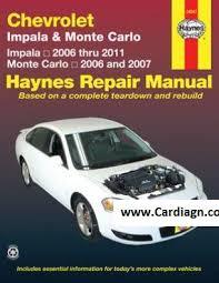 chevrolet impala monte carlo haynes repair manual pdf