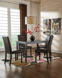 Ashley Dining Room Chairs Signature Design By Ashley Kimote Brown 5 Piece Dining Room Set
