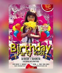 30 kids party flyer psd templates free u0026 premium designyep