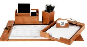 Desk Accessory Sets Desk Decor Set Pictures Yvotube In Leather Desk Set Prepare