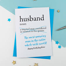 personalised dictionary birthday card for husband by a is for
