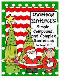 christmas language printable for teaching simple compound