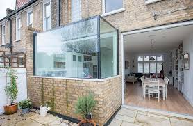 glass box kitchen extension real homes