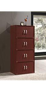hodedah 4 door cabinet amazon com hodedah 4 door four shleves enclosed storage cabinet