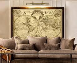 World Map Wall Decor 32 Vintage World Map Wall Art Old World Map Wall Art Car Interior