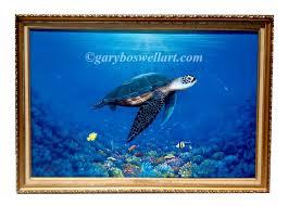 original marine life paintings on canvas by florida artist gary