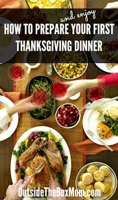how to prepare your thanksgiving dinner working