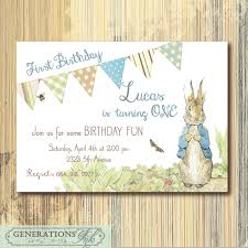 rabbit invitation vintage rabbit birthday invitation printable digital