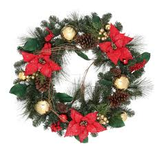 home accents holiday 30 in flocked pine artificial wreath with