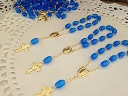 cheap baptism favors 25 pc baptism favors mini rosaries frosted royal blue