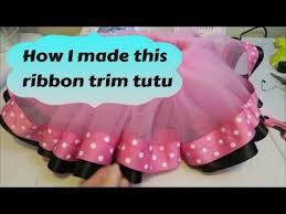 ribbon trim how i make a ribbon trim tutu with less ribbon tutorial
