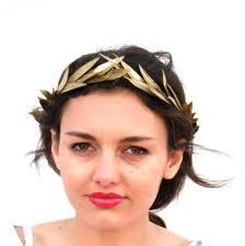 goddess headband gold leaf crown gold headband golden leaves headpiece