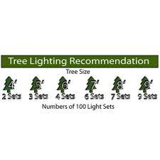 34 ft string light green wire 100 clear mini bulbs