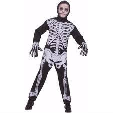 Skeleton Jumpsuit Child Boys Halloween Skeleton Jumpsuit Costume Size Small