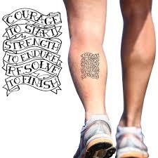 courage to start temporary running tattoo running temporary tattoos