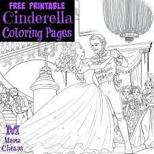 free printable cinderella coloring pages mama cheaps