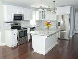 kitchens with stainless appliances gorgeous modern kitchen with white cabinets stainless steel