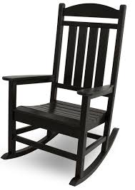 Cheap Outdoor Rocking Chairs Amazon Com Polywood R100bl Presidential Rocker Black Rocking