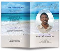 memorial service programs templates free carribean funeral program template memorial service