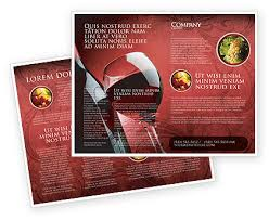 wine brochure template wine glass brochure template design and layout now