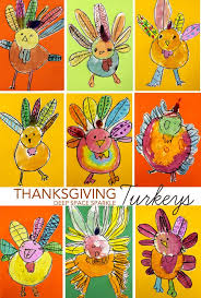 how to draw paint a turkey thanksgiving arts and crafts