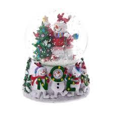 gisela graham jolly snowman noel musical snow globe