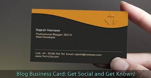 Should I Put A Qr Code On My Business Card Blog Business Card Get Social And Get Known U2022 Bloggingtips Guru