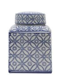 white ginger jar l 7 1 2 l ceramic ginger jar w lid blue white amber marie and company