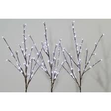 96 cool white led snowy branch lights
