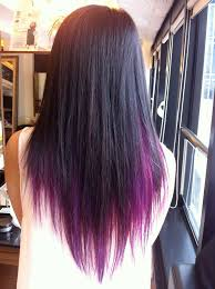 dye bottom hair tips still in style image result for brown layered hair with purple tips make up and