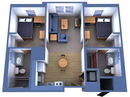 Two Bedroom House Plans by Simple House Plan With 2 Bedrooms And Garage 3d