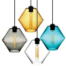 Colored Glass Pendant Lights Sculptural Pendant Light Available In Several Colors Lighting