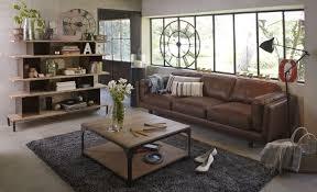 canap style industriel superbe canape cuir vieilli marron 15 d233coration salon style