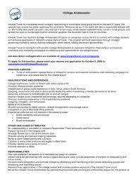 linkedin resume examples cover letter in linkedin pertaining to brand ambassador cover 10 brand ambassador resume sample riez sample resumes riez with regard to brand ambassador