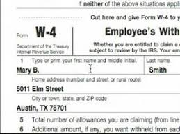 W4 Worksheet Basic Explanation Of W 4 Tax Form Earners Married